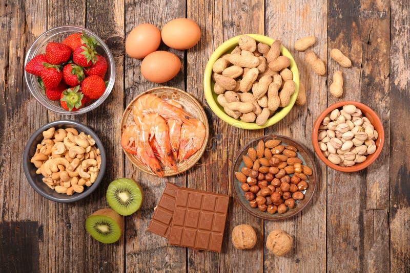 Allergielebensmittel stockbilder