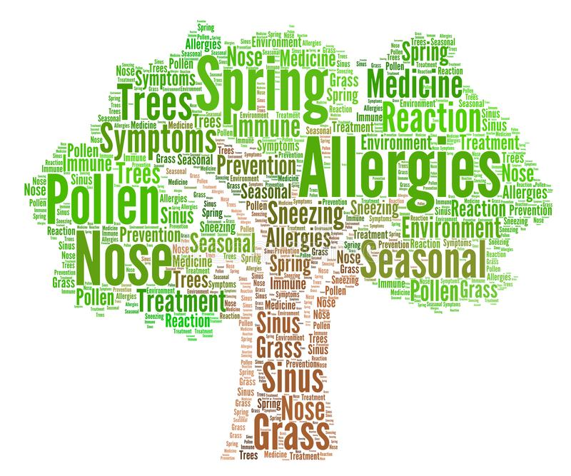 Allergies word cloud concept. Illustration stock illustration