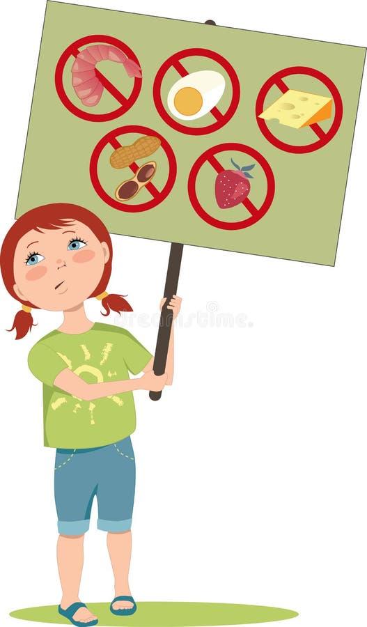 Allergisch meisje vector illustratie