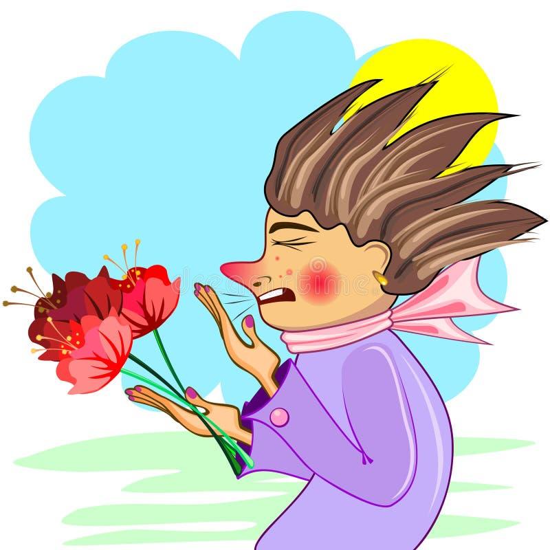 Download Allergy stock vector. Image of sneeze, medical, cartoon - 23878920