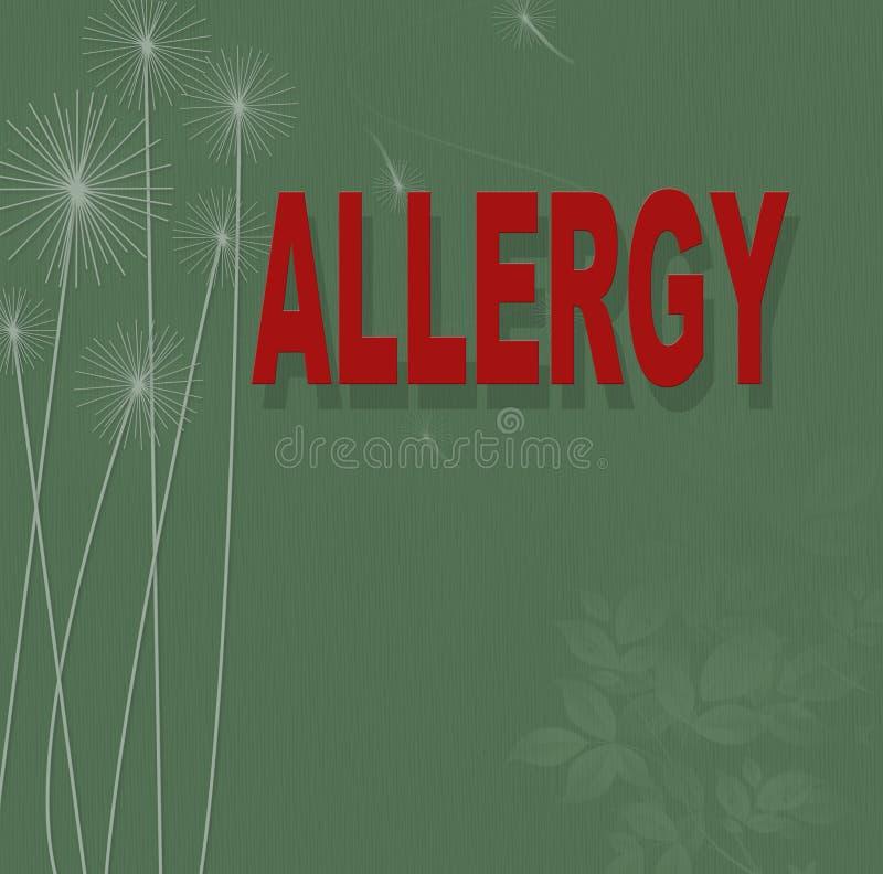 allergy ilustração stock
