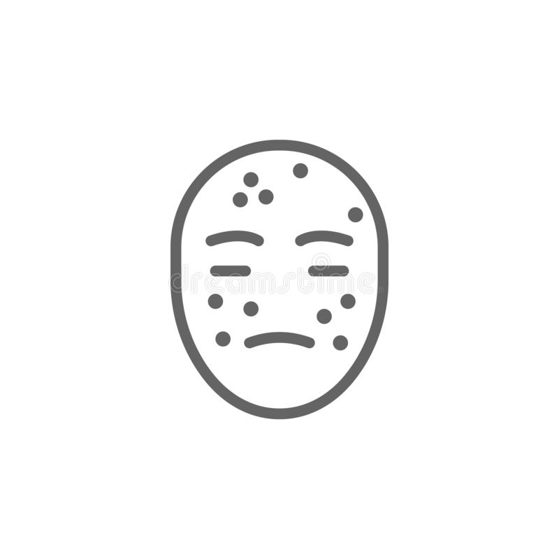 Allergy, face icon. Element of skin care icon. Thin line icon for website design and development, app development. Premium icon royalty free illustration