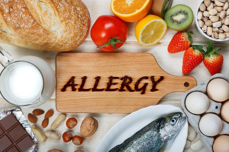 Allergy food stock image