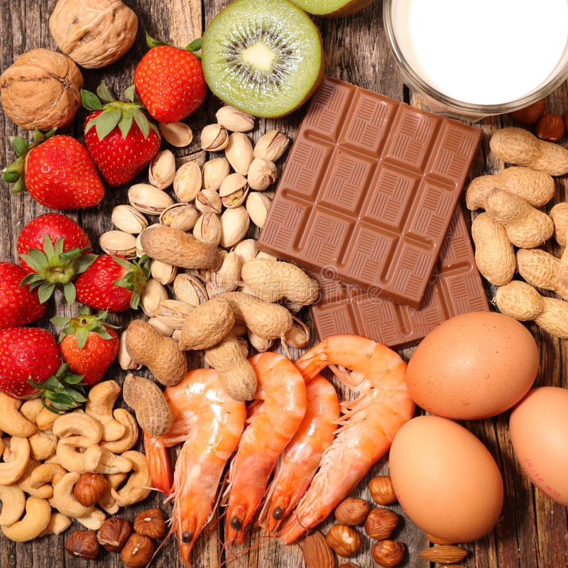 Allergy food stock images