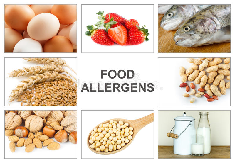 Allergy food concept stock image