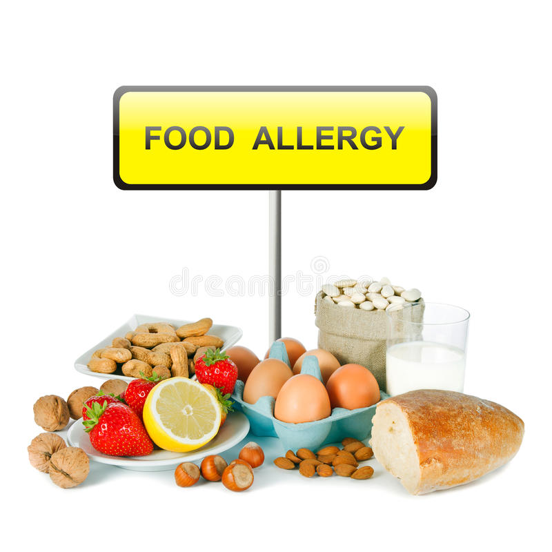 Allergy food royalty free stock photos