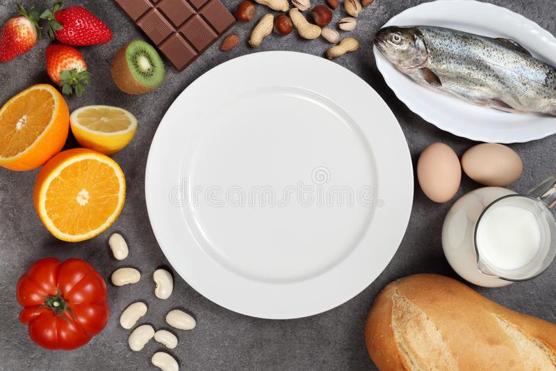 Allergy food concept royalty free stock photo