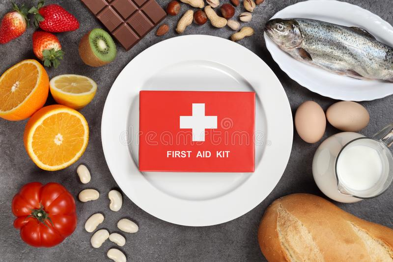 Allergy food concept royalty free stock photos