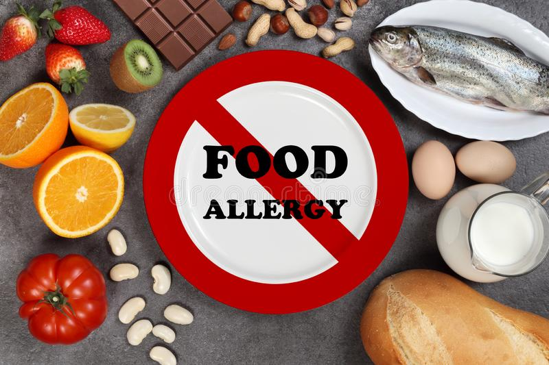 Allergy food concept royalty free stock photography