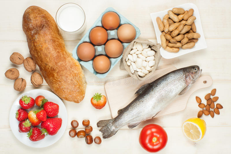 Allergy food royalty free stock photography