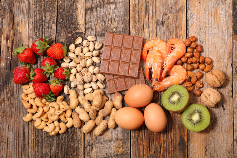 Allergy food royalty free stock images