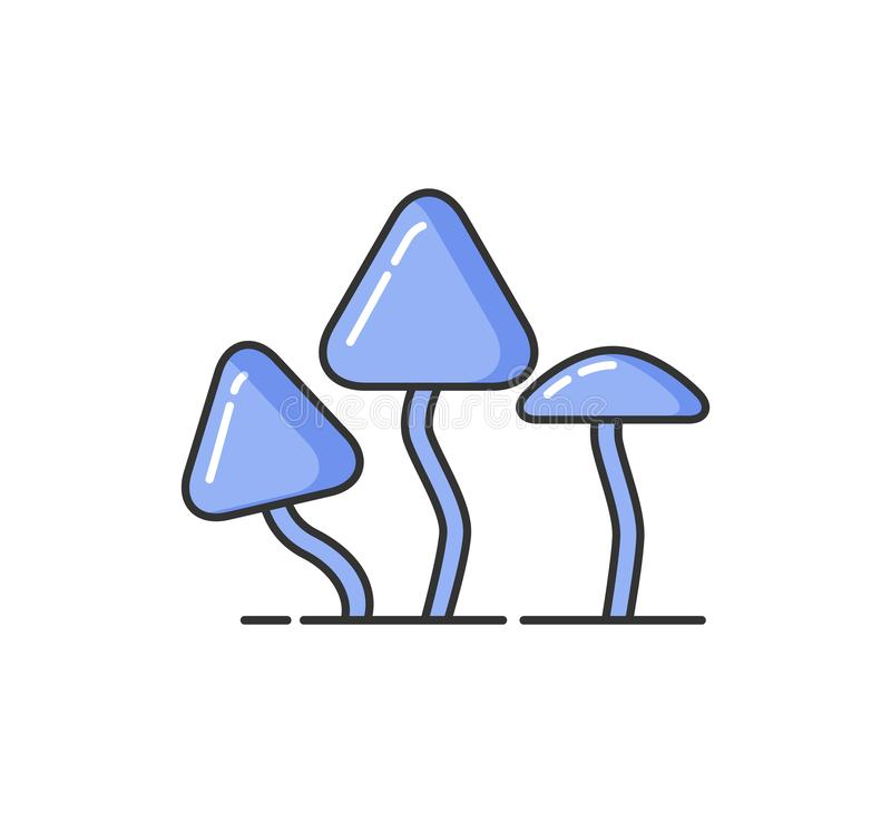 Allergy and Hypersensitivity to Mushrooms, Icon royalty free illustration