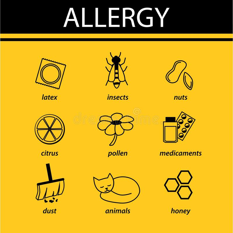Allergy infographic royalty free illustration