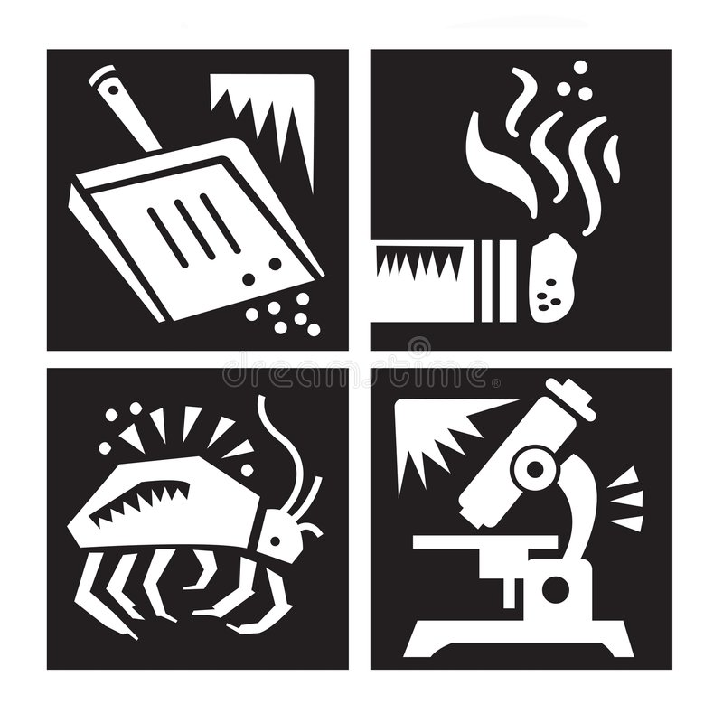 Allergy Research Icon Set royalty free illustration