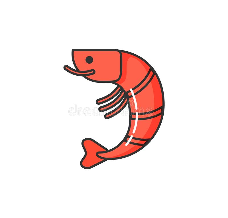 Allergy on Seafood, Isolated Icon of Allergen vector illustration