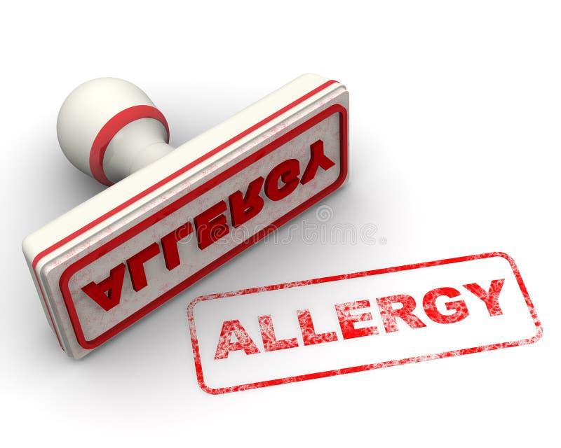 allergy Selo e impress?o ilustração do vetor