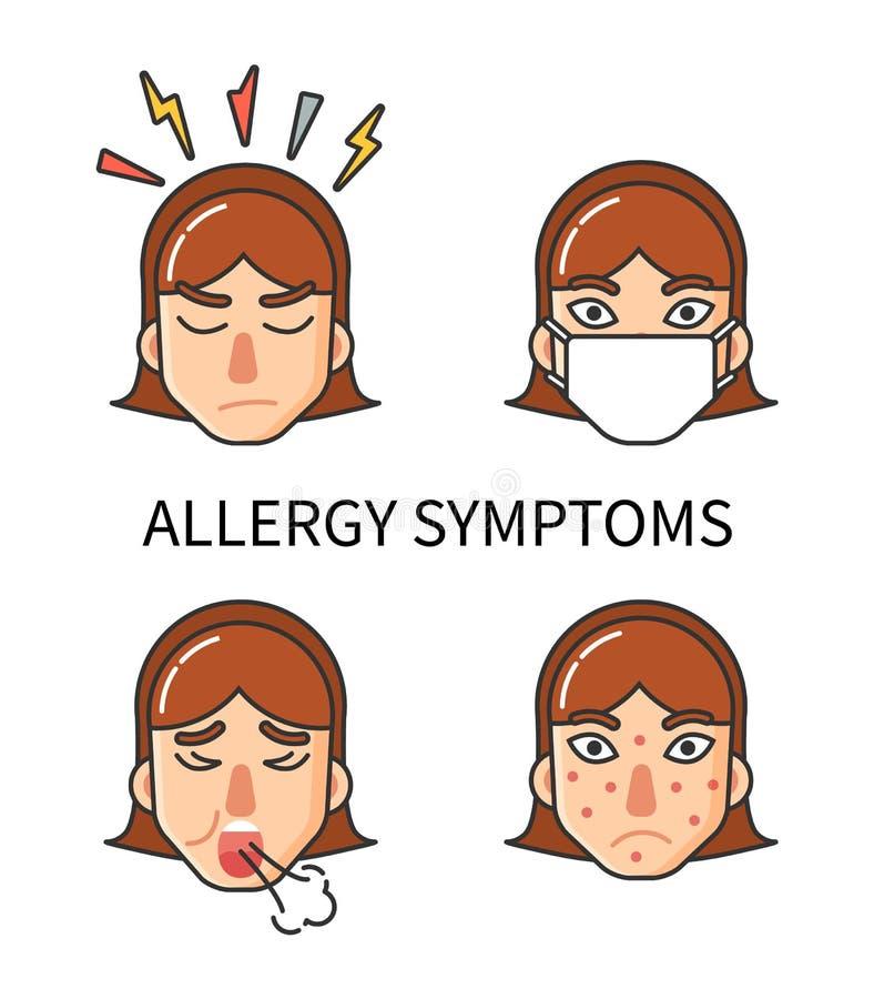 Allergy Symptoms, Hypersensitivity of Organism royalty free illustration