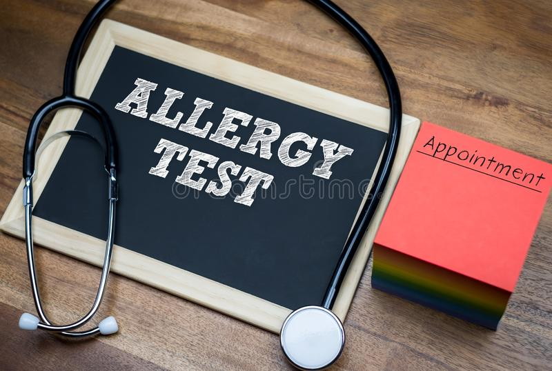 Allergy test stock image