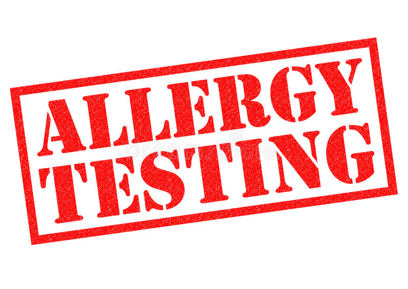 ALLERGY TESTING. Red rubber Stamp over a white background vector illustration
