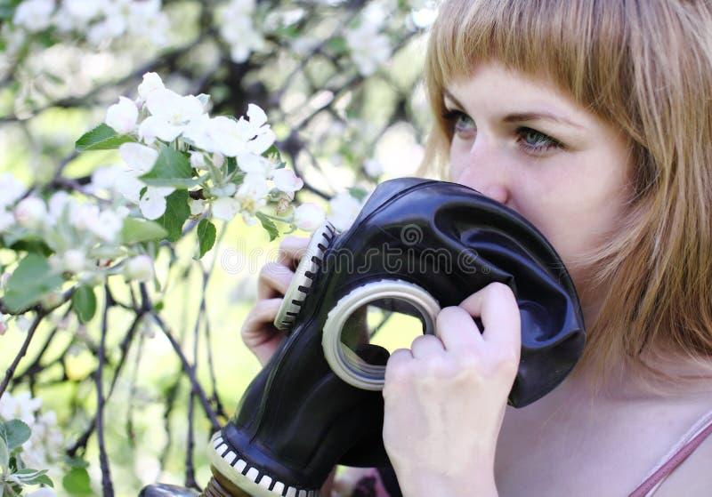 Allergy to pollen stock photography