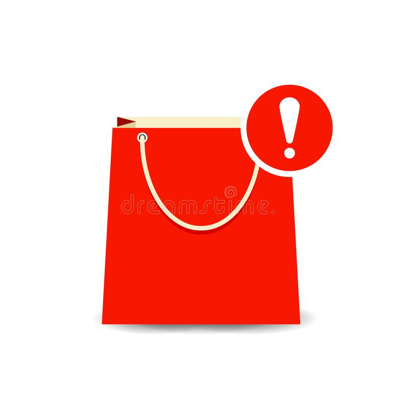 Free Allert Attention Bag Buy Paper Shopping Icon Royalty Free Stock Photos - 110815858