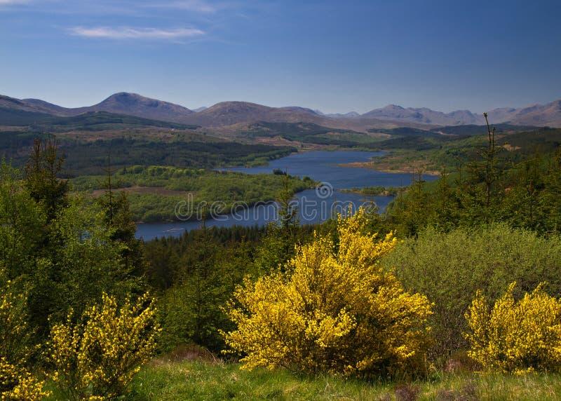 Allerta al Loch Garry immagini stock