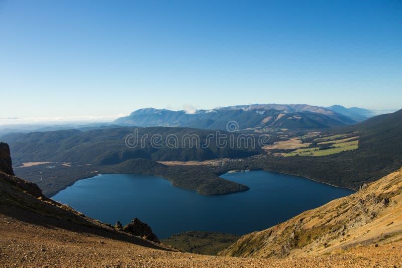 Allerta della montagna e del lago fotografia stock