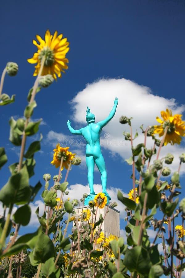 Allertonpark - zangerstandbeeld stock afbeelding