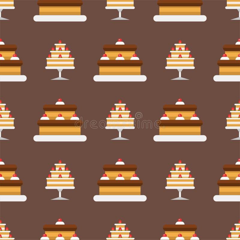 Alles- Gute zum Geburtstagüberraschungsdekoration der Parteikuchenfeier lizenzfreie abbildung