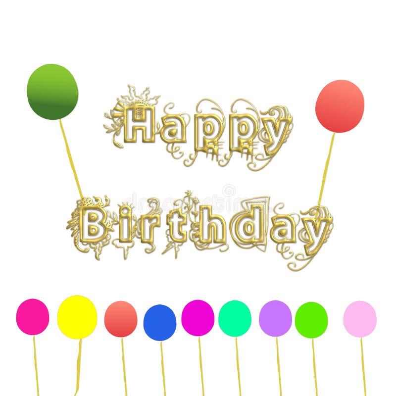 Download Alles Gute zum Geburtstag stock abbildung. Illustration von ballone - 90233642