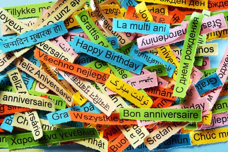 Alles Gute Zum Geburtstag Auf Verschiedenen Sprachen