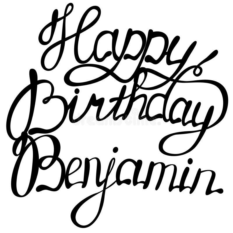 Alles Gute zum Geburtstag Benjamin-Namenbeschriftung vektor abbildung