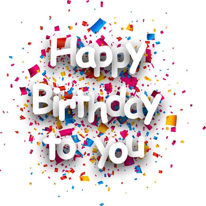 Alles Gute zum Geburtstag Karte vektor abbildung