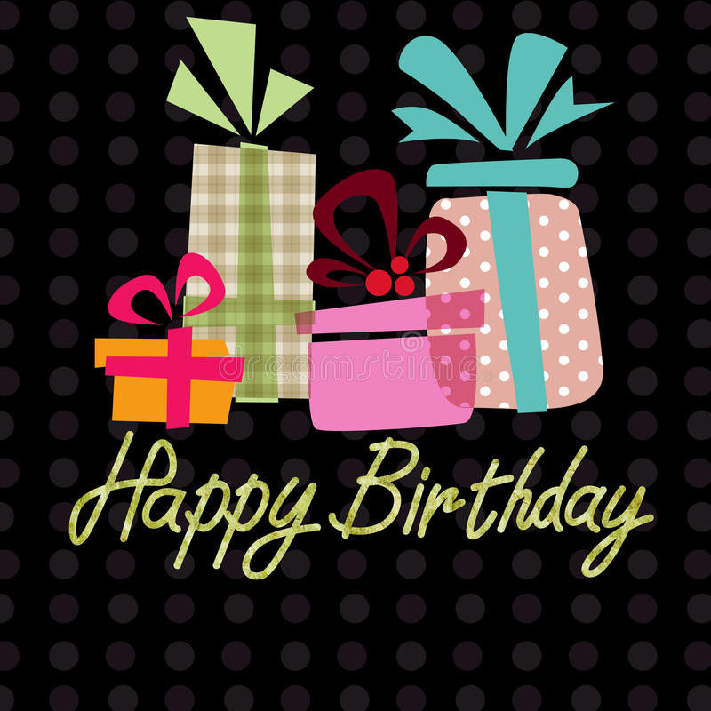 Alles Gute zum Geburtstag, kopierter Hintergrund der Handschrift Beschriftung lizenzfreie abbildung
