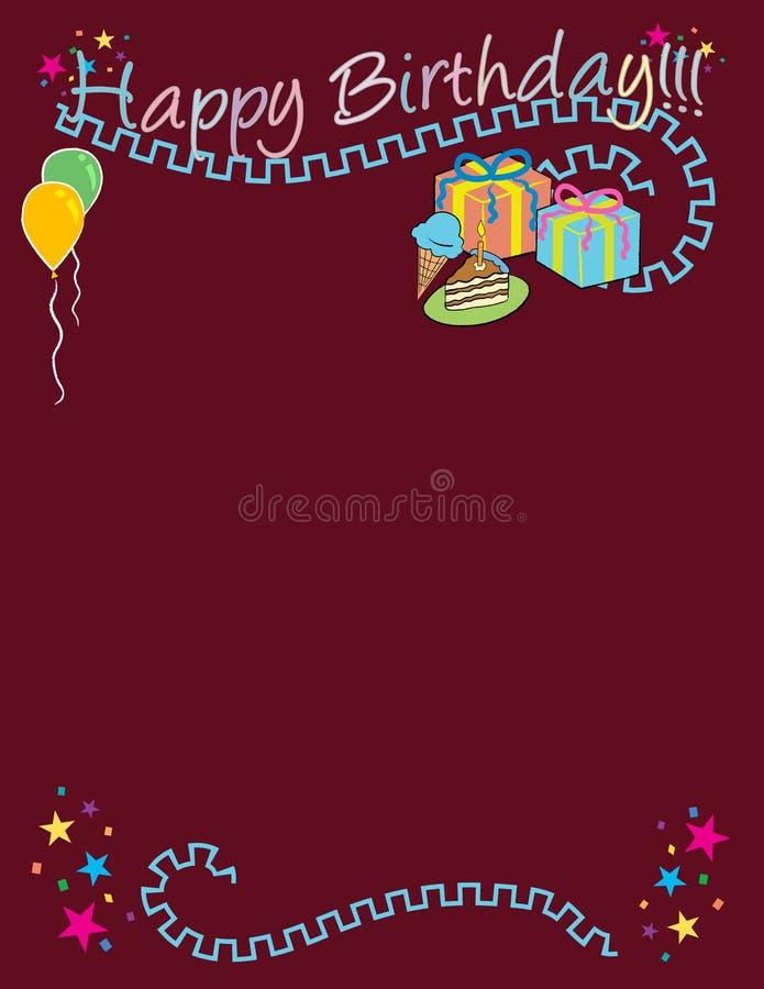 Alles Gute zum Geburtstag! Vektor/Klipp-Kunst vektor abbildung