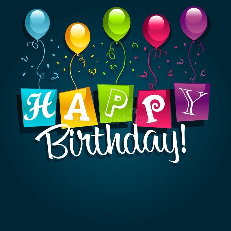 Alles- Gute zum Geburtstagabbildung stock abbildung