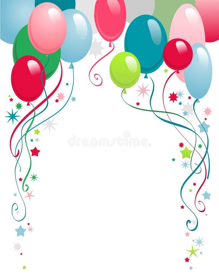 Alles Gute zum Geburtstagballone lizenzfreie abbildung