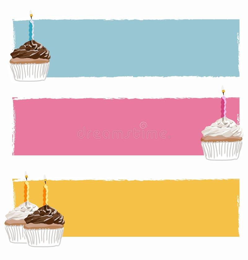 Alles Gute zum Geburtstagfahne lizenzfreie abbildung