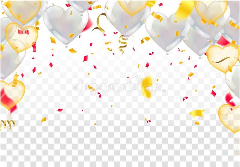 Alles- Gute zum Geburtstagfeiertypographieentwurf Glück-Geburtstag zu Ihnen Logo, Karte, Fahne stock abbildung
