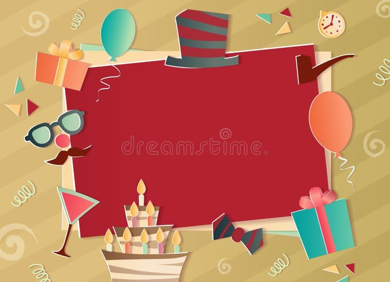 Alles- Gute zum Geburtstagfotorahmen lizenzfreie stockbilder