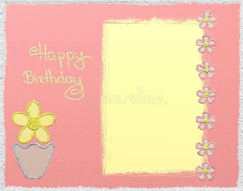 Alles Gute zum Geburtstagfunkelnkarte stock abbildung