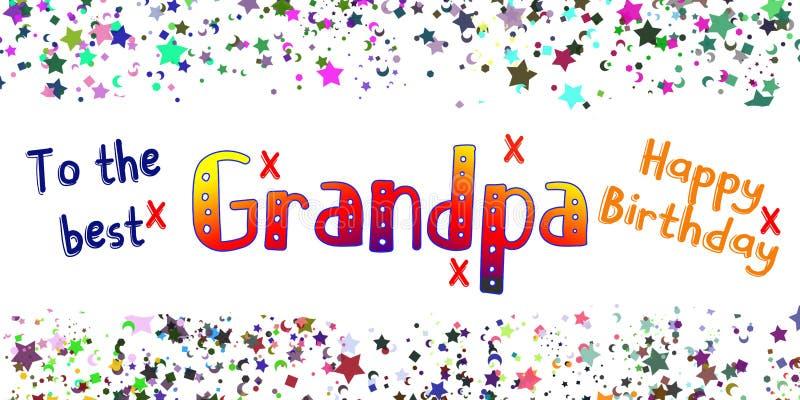 Alles- Gute zum Geburtstaggroßvater-Karte lizenzfreie abbildung