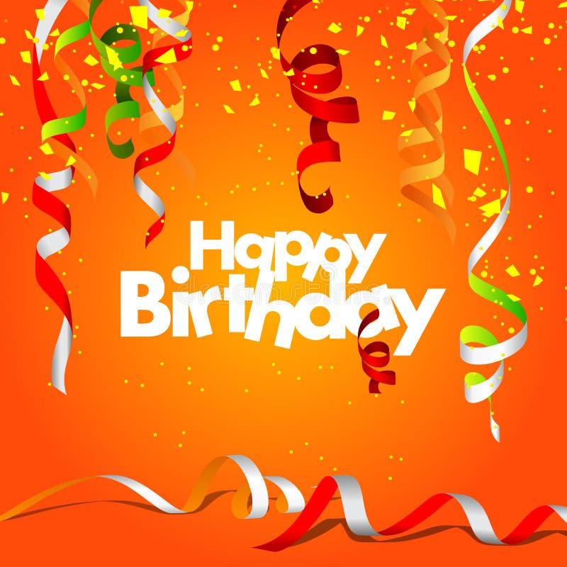 Alles Gute zum Geburtstaggrußkarte vektor abbildung