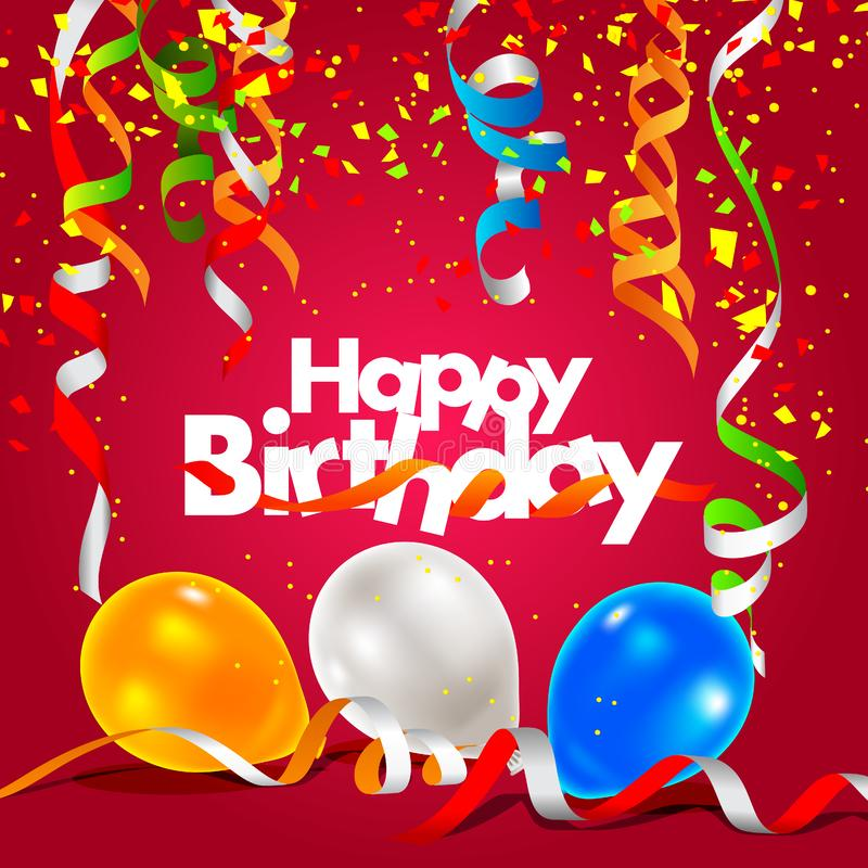 Alles Gute zum Geburtstaggrußkarte lizenzfreie abbildung