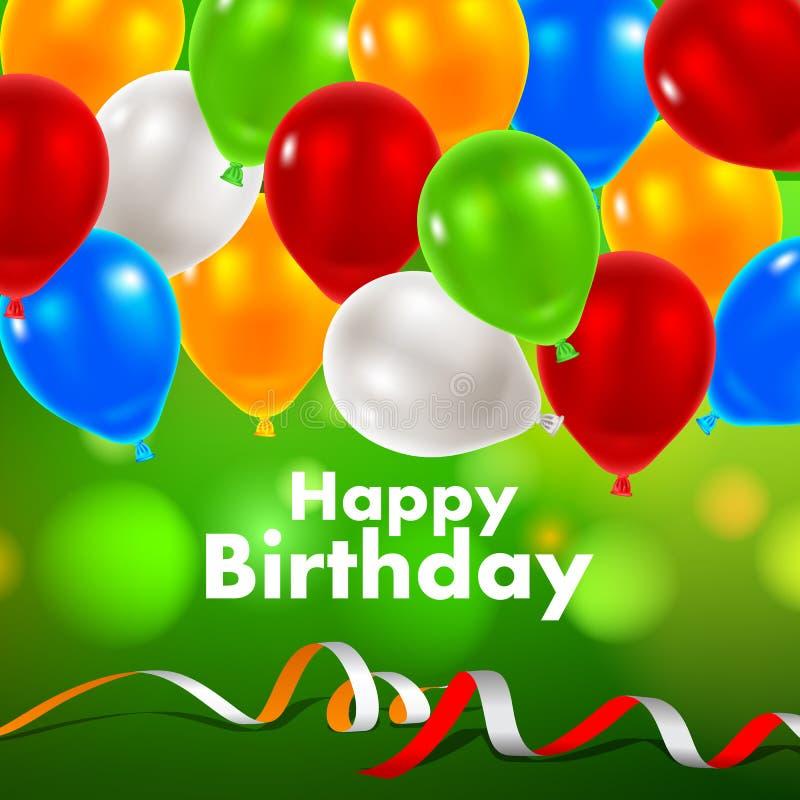 Alles Gute zum Geburtstaggrußkarte stock abbildung