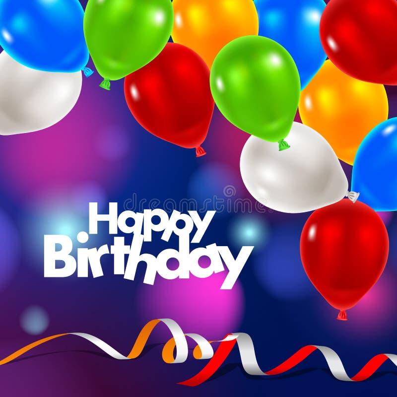 Alles Gute zum Geburtstaggrußkarte lizenzfreies stockfoto