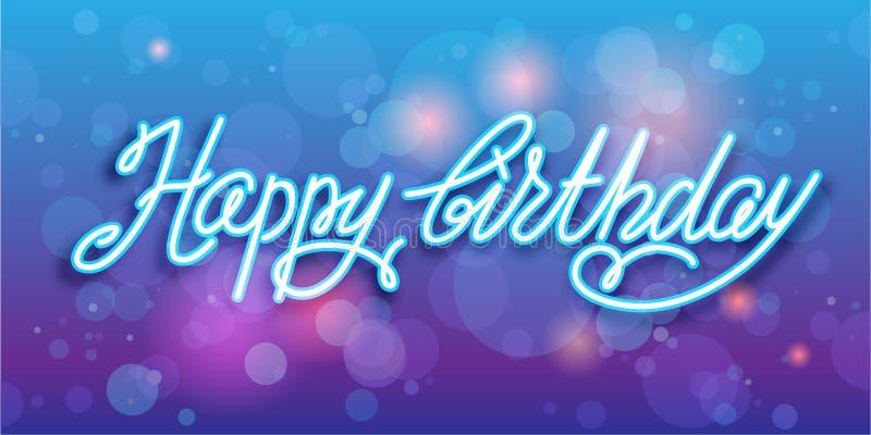 Alles- Gute zum Geburtstaghandschriftsvektorhintergrund stock abbildung