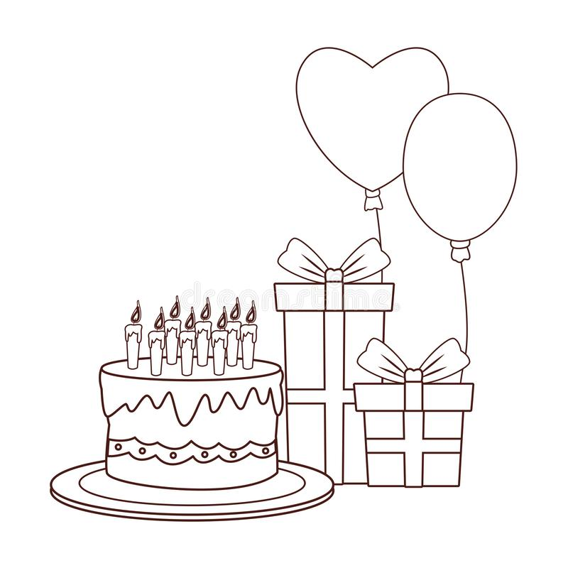 Alles- Gute zum Geburtstagkarikaturen vektor abbildung