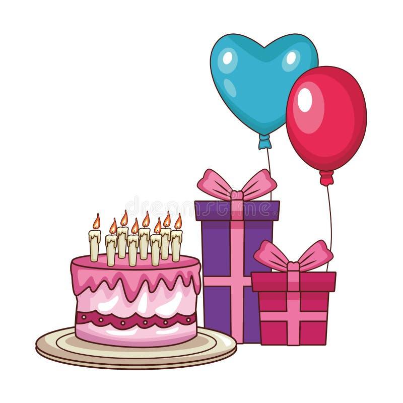 Alles- Gute zum Geburtstagkarikaturen stock abbildung