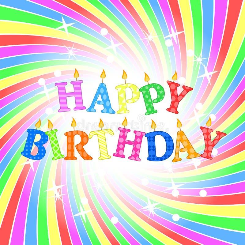Alles Gute zum Geburtstagkarte stock abbildung